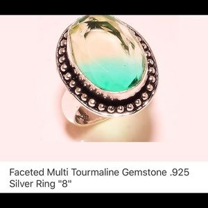 Jewelry - Tourmaline & Sterling Silver Ring
